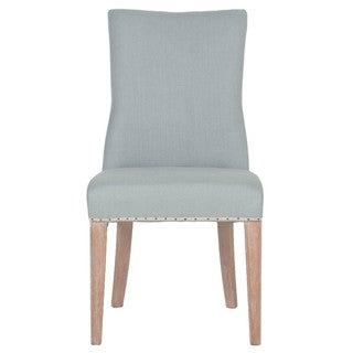 Gray Manor Floyd Distressed Tan Wood/Linen Dining Chairs (Set of 2)