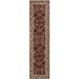 Safavieh Hand-hooked Total Perform Rust/ Green Acrylic Rug (2' 3 x 9')