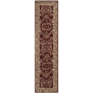 Safavieh Hand-hooked Total Perform Rust/ Green Acrylic Rug (2' 3 x 9')|https://ak1.ostkcdn.com/images/products/11958002/P18843668.jpg?impolicy=medium