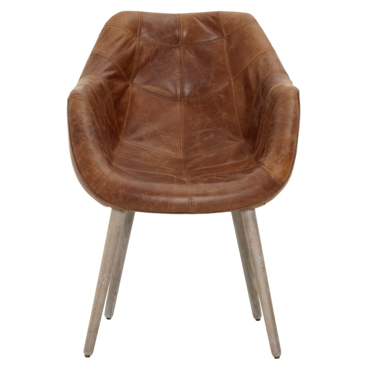 Gray Manor Dawn DistresseD Tan Wood/Leather Dining Chair ...