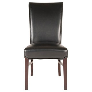 Gray Manor Angelina Espresso Birch/Bonded Leather Dining Chairs (Set of 2)