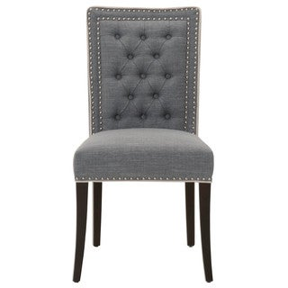 Gray Manor Daniel Distressed Tan Wood/Linen/Cotton Dining Chairs (Set of 2)