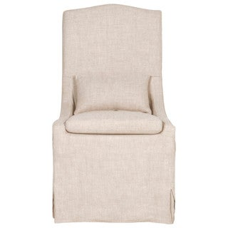 Gray Manor Carmen Cream Linen Dining Chairs (Set of 2)
