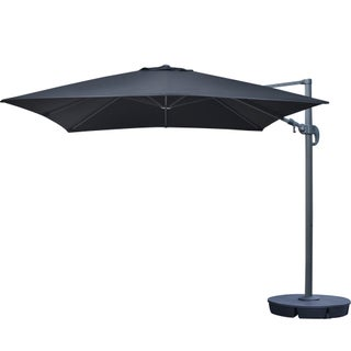 Santorini II Black Sunbrella Acrylic 10-foot Square Cantilever Umbrella (2 options available)