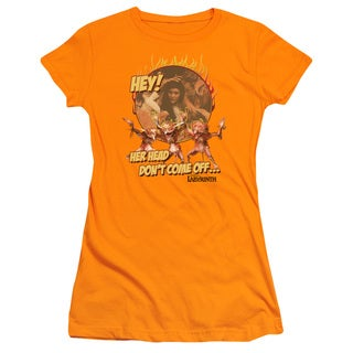Labyrinth/Head Don't Come Off Junior Sheer in Orange