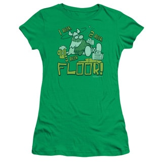 Hagar The Horrible/1 2 3 Floor Junior Sheer in Kelly Green