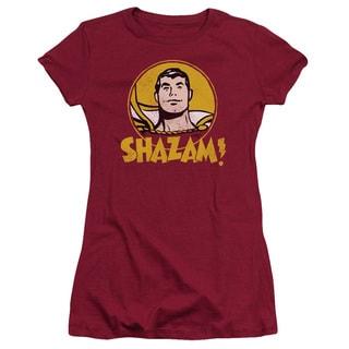 DC/Shazam Circle Junior Sheer in Cardinal