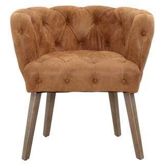 Arthur 8OS220.CHNT/W Distressed Tan Leather Dining Chair