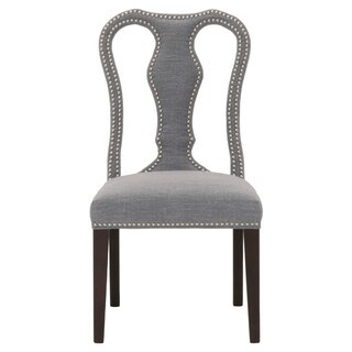 Harvey Grey Cotton Linen and Birch 40-inch x 25-inch x 21-inch Dining Chair (Set of 2)