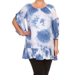 MOA Collection Women's Plus Size Tie-dye Tunic