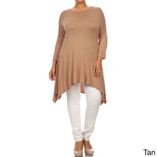 MOA Collection Women's Plus Size Solid Tunic