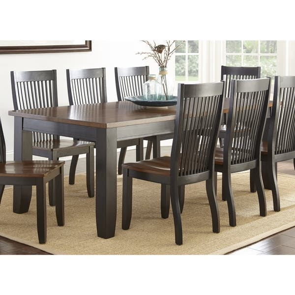 Black And Cherry Wood Dining Table