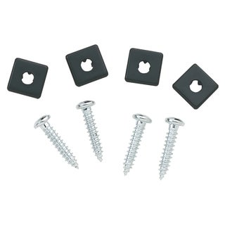 Bell 00458-8 4 Pack Chrome License Fasteners