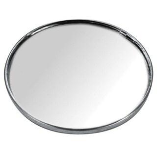 Custom Accessories 71112 3-3/4-inch Stick-On Blind Spot Mirror - Silver