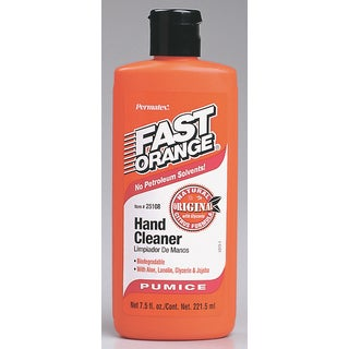 Permatex 25108 7.5 Oz Fast Orange Hand Cleaner With Pumice