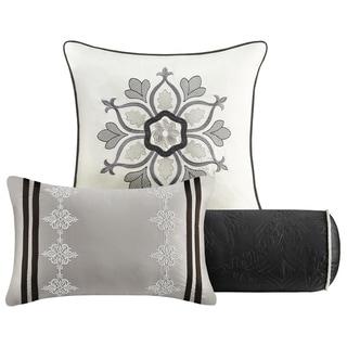 Madison Park Melanie Black 9-piece Charmeuse Comforter Set