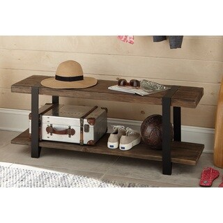 Carbon Loft Kenyon Natural Reclaimed Wood And Metal Bench