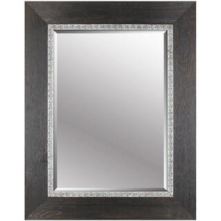 Hobbitholeco. 30x38 Black Emboss Beveled Mirror (Inner mirror 20X28)