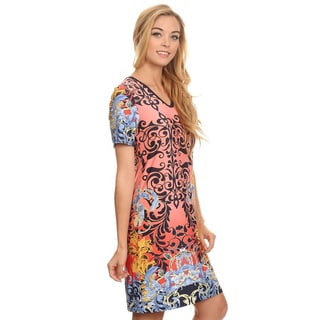 MOA Collection Women's Paisley Short Dress