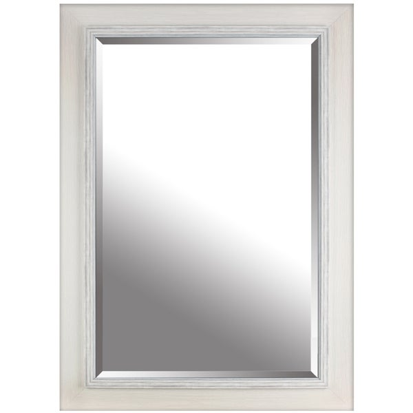 Hobbitholeco white wash hand stained frame for Mirror 84 x 36