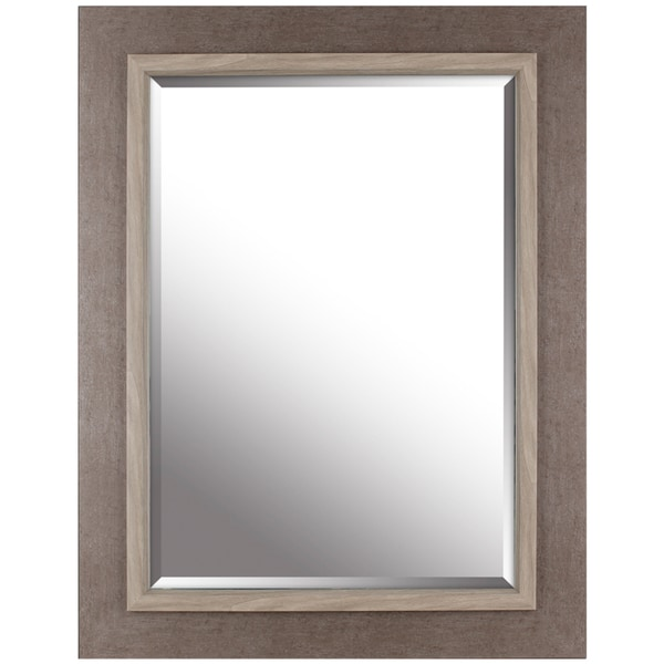 shop hobbitholeco grey x beveled mirror on sale free shipping today. Black Bedroom Furniture Sets. Home Design Ideas
