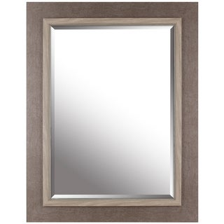 Hobbitholeco. Grey 27.25-inch x 35.25-inch Beveled Mirror