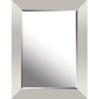 Hobbitholeco. Silver Leaf 26.25-inch x 34.25-inch Gradient Frame Beveled Mirror