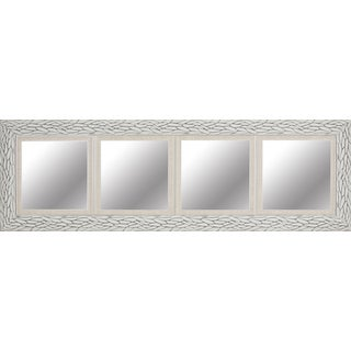 Hobbitholeco. White Bark 18 x 60-inch Quadruple-opening Mirror with 12 x 12-inch Inner Mirrors