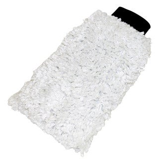 Carrand 40302 Chenille White Wash Mitt