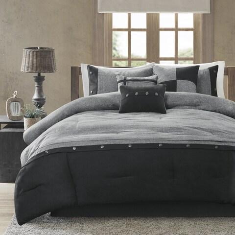 Madison Park Westbrook Grey 7-piece Comforter Set
