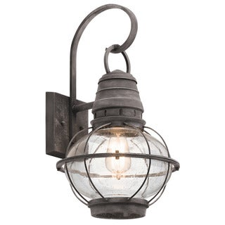 Kichler Lighting Bridge Point Collection 1-light Weathered Zinc Outdoor Wall Lantern