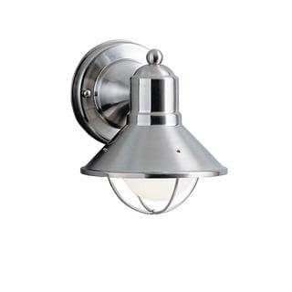 Kichler Lighting Seaside Collection 1-light Brushed Nickel Outdoor Wall Lantern