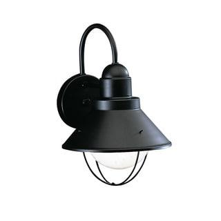 Kichler Lighting Seaside Collection 1-light Black Outdoor Wall Lantern