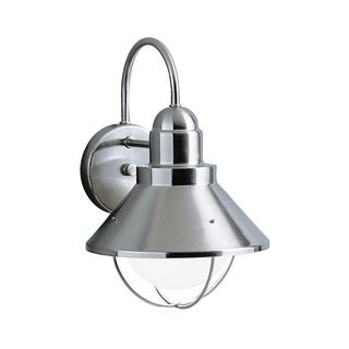 Kichler Lighting Seaside Collection 1-light Brushed Nickel Outdoor Wall Lantern