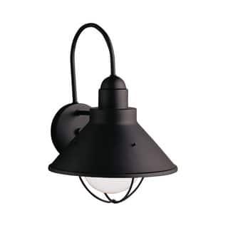 Kichler lighting outdoor lighting for less overstock kichler lighting seaside collection 1 light black outdoor wall lantern aloadofball Images