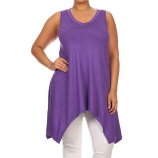MOA Collection Women's Plus-size Relaxed Sleeveless Tunic