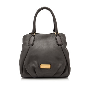 Marc By Marc New Q Fran Faded Aluminum Leather Top-handle Tote