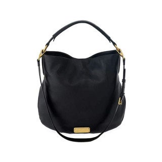 Marc by Marc Jacobs New Q Hillier Black Leather Convertible Hobo Handbag