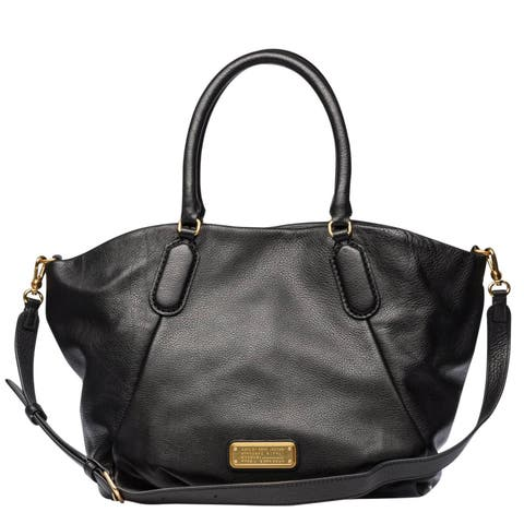 Marc By Marc Women's New Q Fran Black Leather Top-Handle Shoulder Tote Bag