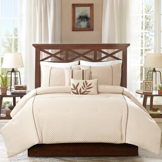 Madison Park Marilyn Taupe 5-piece Comforter Set