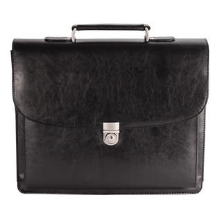 Bugatti Executive Black Leather 15.6-inch Laptop Briefcase|https://ak1.ostkcdn.com/images/products/11959220/P18844760.jpg?impolicy=medium