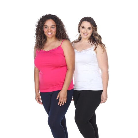 White Mark Women's Plus Size Tank Tops (Set of 2)