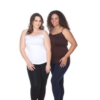 White Mark Women's Plus Size Tank Tops (Set of 2)