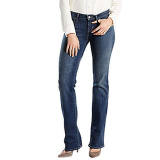 Levi's Junior's 528 Blue Cotton Curvy Skinny Jeans