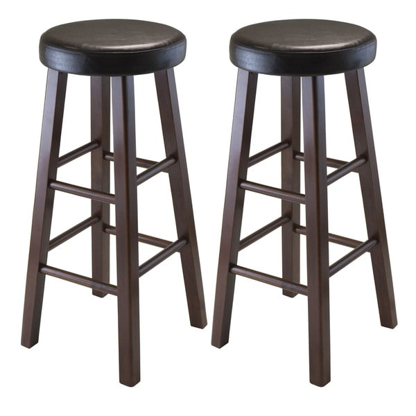 Winsome Wood Marta Dark Brown PU Leather Cushion Seat  : Winsome Wood Marta PU Leather Cushion Seat Round Bar Stool Set of 2 c8ad119e a220 423b bfa2 8365c9e3e082600 from www.overstock.com size 600 x 600 jpeg 29kB