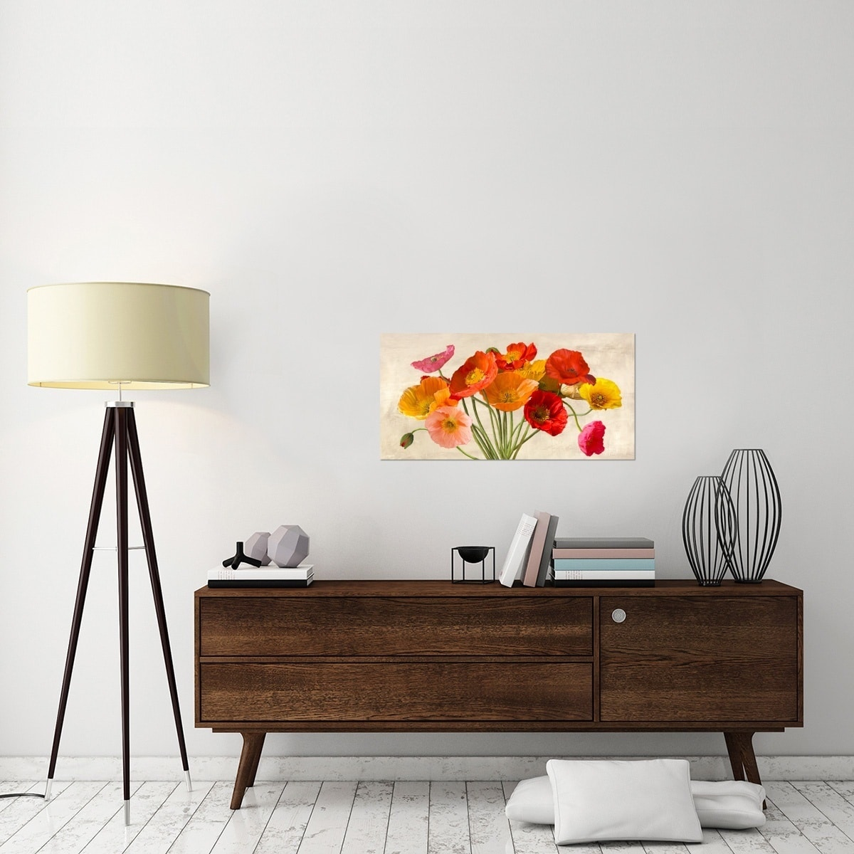 Global Gallery Luca Villa Poppies In Spring Stretched Canvas Artwork Overstock 11959297