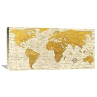 Global Gallery, Joannoo 'Geo I' Stretched Canvas Artwork
