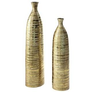 Mathis Gold Ceramic 40-inch Floor Vase