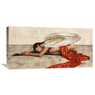 Global Gallery Sonya Duval 'Reclined Angel' Stretched Canvas Artwork