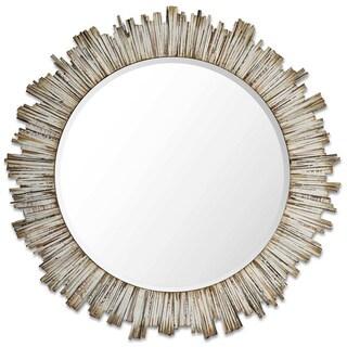 Pinna Natural Wood Beveled Wall Mirror